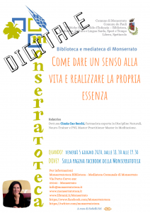 Locandina evento CinziaCao Secchi