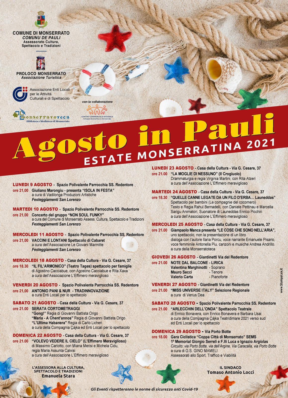 Agosto in Pauli – Estate Monserratina 2021